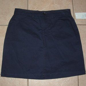 Choose Sz 6 8 or 10 Navy Blue Cotton Skort Pockets